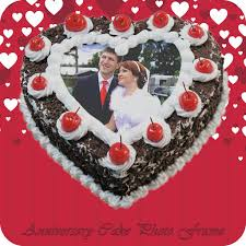Anniversary Cake Photo Frame Photo Name On Cake By Mitesh Varu
