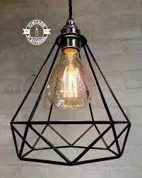 Drop Cord Ceiling Light The Blakeney Diamond Single Drop Cage Ceiling Light Edison