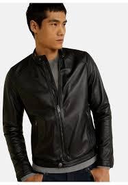 cuir leather jacket black