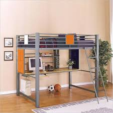 loft bed with desk powell teen trends full size metal loft bed with desk