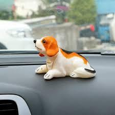 ihambing ang pinakabagong car dashboard nodding dog auto shaking head toy bobble head doll car ornaments air freshener decoration cute beagle pinahusay