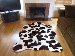 patchwork cowhide rug snow leopard rug faux hide rug