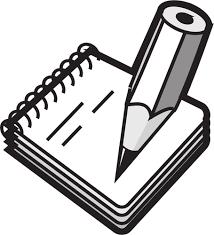 Taking notes   Free SVG