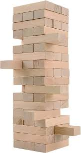 Games With Wooden Blocks Extraordinary Amazon CoolToys Timber Tower Wood Block Stacking Game