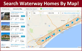 intracoastal waterway homes by city