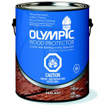 Olympic  L Waterproofing Wood Protector Sealant Lowes Canada - Exterior waterproof sealant