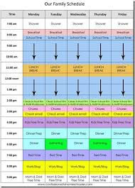 Daily Homeschool Schedule Template Our Daily Homeschool Schedule By Erica Over At Confessions Of A