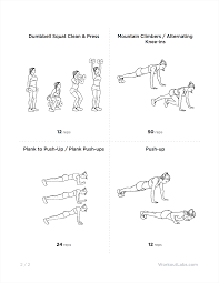 kayla itsines body guide free arms circuit workout for women