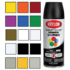 Krylon Colormaster Paint Primer Enamel Spray Paint