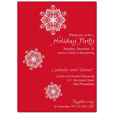 Falling Snow White On Red Holiday Party Invitations Paperstyle