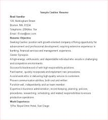 Resume For Fast Food Cashier Fast Food Cashier Resume Resume Template For Cashier Resume