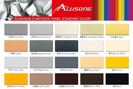 Acp Colour Chart China Facade Aluminum Decorative Panels Suppliers And