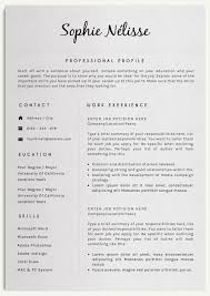 Elegant Resume Template Delectable Resume Template Elegant Resume Template For Word CV Template