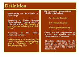 Species Diversity Definition Unit Iii Biodiversity Biotic Resources Ppt Download