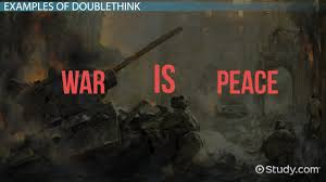 doublethink in definition examples video lesson  doublethink in 1984 definition examples video lesson transcript com