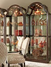 Small Picture Transitional Dining Room Decorating ideas with contemporary curio