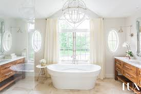 vaulted master bathroom ceiling with chandelier pin it on view full size