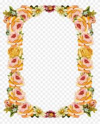 peach clipart frame shradhanjali photo frames 291014