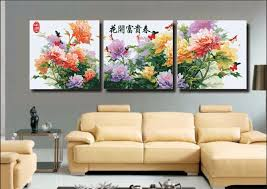 3 piece large frameless diy painting by numbers flowers canvas oil paintings coloring wall painting art on 3 piece canvas wall art diy with 3 piece large frameless diy painting by numbers flowers canvas oil