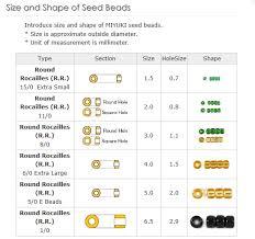 Seed Bead Size Chart Miyuki Japanese Seed Beads 15 0 S L Crystal Colour 8 2 Tube 28 4 7