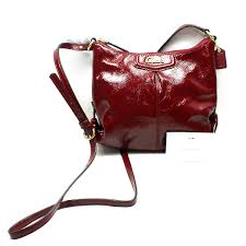 home coach ashley patent leather small swingpack bag red thumbnail to zoom found