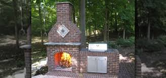 how to build an outdoor brick fireplace construction repair wonderhowto