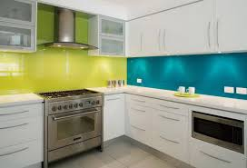 Yellow And Blue Kitchen Kitchens Colorful Yellow Blue Kitchen Plus Herringbone Backsplash