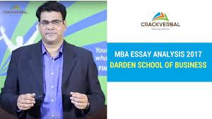 mba essay analysis darden school of business  mba essay analysis 2017 darden school of business