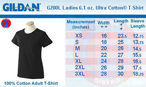 Gildan Size Chart Ladies Gildan 200l Ultra Cotton Women T Shirt