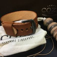 details about handmade italian veg tanned vintage 403 leather nato strap 18mm 20mm 22mm 24mm