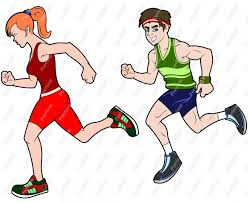 Image result for cartoon person running track