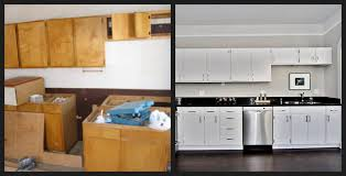 painted white kitchen cabinets before and after fine painting diy laminate from black cupboard paint sourcetsrf