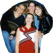 Ballgame at Manning Back: Heather Odendahl Middle: Erica Lohrmann, Lesa Frey  Front: Tiffany Jahn