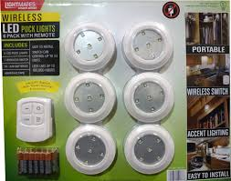 lightmates led wireless puck lights with remote batteries 6 pack puck lightsunder cabinet
