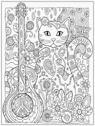 Pretty Cat Coloring Pages For Adult Printable Art Pinterest