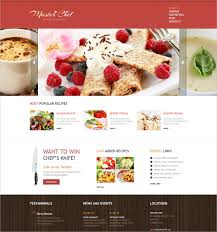 Cooking Recipes Website Template Food Recipe Blog Website Templates