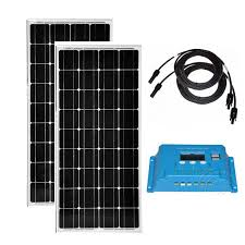 <b>Solar Panel 24v 200w</b> Solar Panel 12v 100w 2 Pcs Solar Charge ...