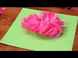 Paper Flower Crafts For Kindergarten Kindergarten Rose Craft Paper Flower Crafts Youtube