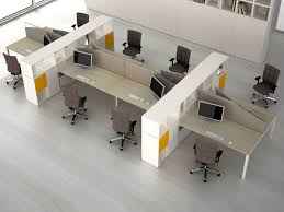 open office concept. office workstation storage open concept
