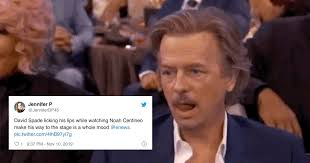 This never gets easier, i have to talk and say things. David Spade Became A Meme At The 2019 People S Choice Awards Popsugar Celebrity