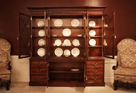 Chippendale China Cabinet Large Luxurious Mahogany China Cabinet Hutch Or Breakfront