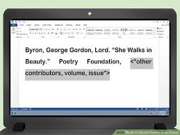 how to quote poetry in an essay pictures wikihow image titled quote poetry in an essay step 13