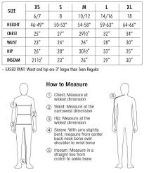 Obermeyer Kids Size Chart Size Charts For Obermeyer Apparel