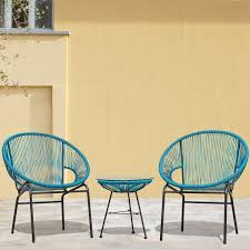 sarcelles woven wicker patio chairs by corvus set of 2