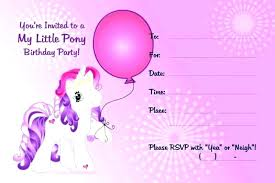 Princess Invitations Free Template Pony Party Invites Free Printable My Little Invitations Princess