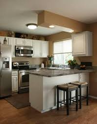 Idea For Small Kitchen Small Apartment Kitchen Ideas With Cabinetry Which Has Granite