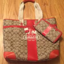 ... reduced coach tote and wallet set ab542 f8f65 ...