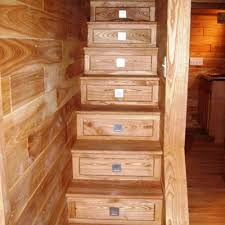 tiny house loft ladder. In This Tiny House, Built Minnesota, Well-crafted Stairs Look Like Mission House Loft Ladder