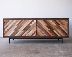 patterned low media console