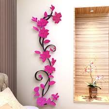 home decoration art hot mirror wall stickers e flower vase acrylic decal home art decor home